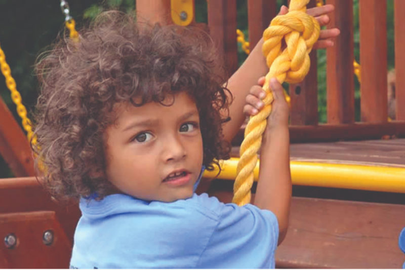 Child on a playground